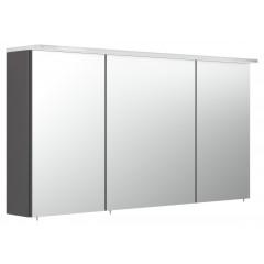 Posseik Spiegelschrank 120cm inkl.Design Acryl-Lampe und Glasböden anthrazit seidenglanz