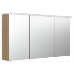 Posseik Spiegelschrank 120cm inkl. Design Acryl-Lampe und Glasböden eiche hell