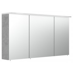 Posseik Spiegelschrank 120cm inkl. Design Acryl-Lampe und Glasböden beton