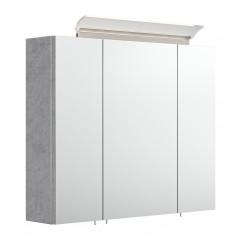 Posseik Spiegelschrank 75 inklusive LED-Acrylglaslampe beton