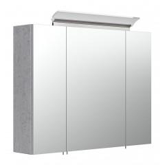 Posseik Spiegelschrank 80 inklusive LED-Acrylglaslampe beton
