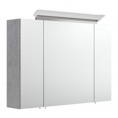 Posseik Spiegelschrank 90 inklusive LED-Acrylglaslampe beton