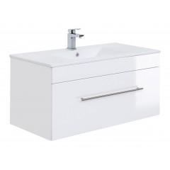 Posseik Badmöbel VIVA 100  weiß hochglanz Weiß-Weiß hochglanz
