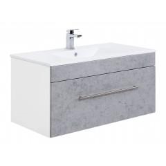 Posseik Badmöbel VIVA 100  beton Weiß-Beton