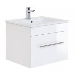 Posseik Badmöbel VIVA 60 weiß hochglanz Weiß-Weiß hochglanz