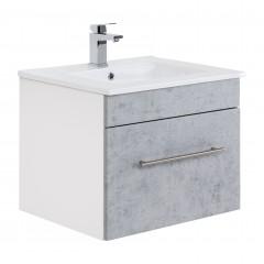 Posseik Badmöbel VIVA 60 beton Weiß-Beton