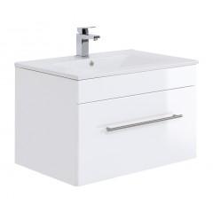 Posseik Badmöbel VIVA 75 weiß hochglanz Weiß-Weiß hochglanz