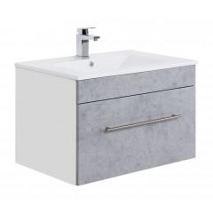 Posseik Badmöbel VIVA 75 beton Weiß-Beton