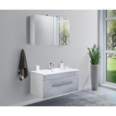 Posseik Badmöbel-Set VIVA 100 (2-teilig) beton Weiß-Beton EEK: F