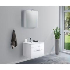 Posseik Badmöbel-Set VIVA 60 (2-teilig) weiß hochglanz Weiß-Weiß hochglanz EEK: F