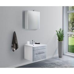 Posseik Badmöbel-Set VIVA 60 (2-teilig) beton Weiß-Beton EEK: F