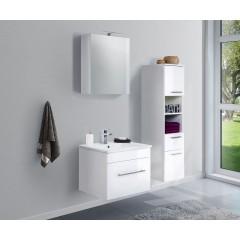 Posseik Badmöbel-Set VIVA 60 (3-teilig) weiß hochglanz Weiß-Weiß hochglanz EEK: F