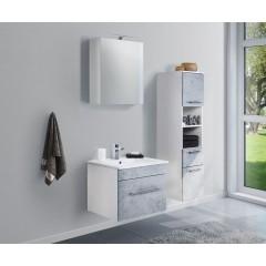 Posseik Badmöbel-Set VIVA 60 (3-teilig) beton Weiß-Beton EEK: F