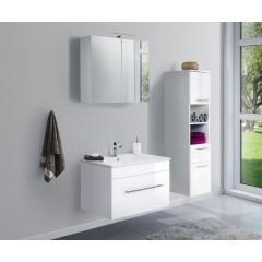 Posseik Badmöbel-Set VIVA 75 (3-teilig) weiß hochglanz Weiß-Weiß hochglanz EEK: F