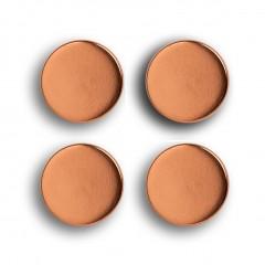 Zeller Magnet-Set, 4-tlg., extra stark, roségold, Metall / Ferrit Magnet, Ø2,3 x 0,9 cm