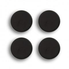 Zeller Magnet-Set, 4-tlg., extra stark, schwarz, Metall / Ferrit Magnet, Ø2,3 x 0,9 cm