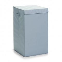 Zeller Wäschesammler, Polyester, grau, 35 x 35 x 60 cm