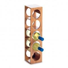 Zeller Weinregal für 5 Flaschen, Bambus, 13,5 x 12,5 x 53 cm