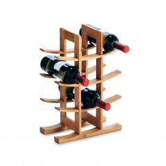 Zeller Weinregal für 12 Flaschen, Bambus, 29 x 16 x 42 cm
