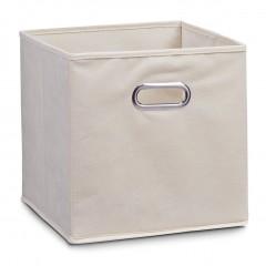 Zeller Aufbewahrungsbox, Vlies, beige, 32 x 32 x 32 cm