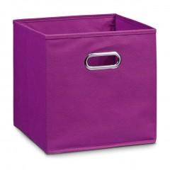Zeller Aufbewahrungsbox, Vlies, lila, 32 x 32 x 32 cm