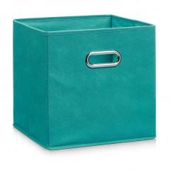 Zeller Aufbewahrungsbox, Vlies, petrol, 32 x 32 x 32 cm