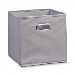 Zeller Aufbewahrungsbox, Vlies, grau, 28 x 28 x 28 cm
