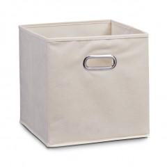 Zeller Aufbewahrungsbox, Vlies, beige, 28 x 28 x 28 cm