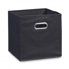 Zeller Aufbewahrungsbox, Vlies, schwarz, 28 x 28 x 28 cm