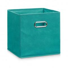 Zeller Aufbewahrungsbox, Vlies, petrol, 28 x 28 x 28 cm
