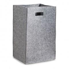 Zeller Wäschesammler, Filz, grau, 35 x 30 x 55 cm