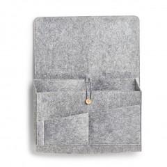 Zeller Couch-Organizer, Filz, grau