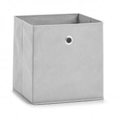 Zeller Aufbewahrungsbox, Vlies, hellgrau, 28 x 28 x 28 cm