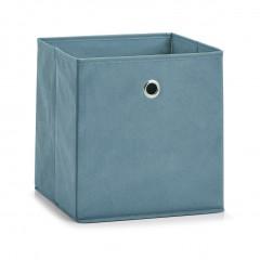 Zeller Aufbewahrungsbox, Vlies, rauchblau, 28 x 28 x 28 cm