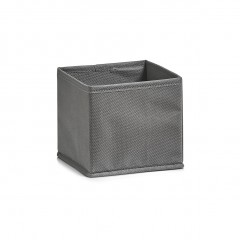 Zeller Aufbewahrungsbox, Vlies, grau, 14 x 14 x 13 cm