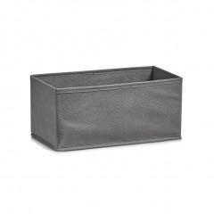 Zeller Aufbewahrungsbox, Vlies, grau, 14 x 28 x 13 cm
