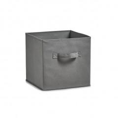 Zeller Aufbewahrungsbox, Vlies, grau, 26 x 26 x 26 cm