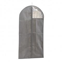 Zeller Kleiderhülle m. Fenster, Vlies, grau, 58 x 118 cm