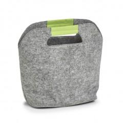 Zeller Kühltasche, Filz, grau/grün