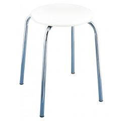Wenko Exclusiv Badhocker Livorno, mit weißer Soft-Sitzfläche