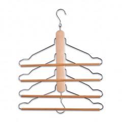 Zeller Mehrfach-Kleiderbügel, Buche/Metall verchromt, 40 x 41 cm