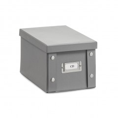 Zeller CD-Box, Pappe, grau