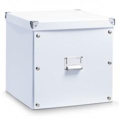 Zeller Aufbewahrungsbox, Pappe, weiß, 33,5 x 33 x 32 cm