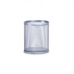 Zeller Bleistiftbecher, Mesh, silber, Ø8 x 9 cm
