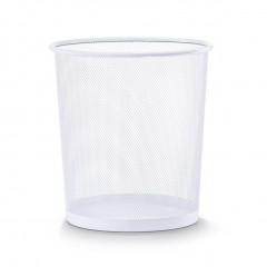 Zeller Papierkorb, Mesh, weiß, Ø26 x 28 cm
