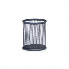 Zeller Bleistiftbecher, Mesh, anthrazit, Ø8 x 9,5 cm
