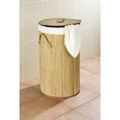 Wäschetruhe Bamboo Natur, Wäschekorb, 55 l