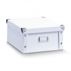 Zeller Aufbewahrungsbox, Pappe, weiß, 31 x 26 x 14 cm