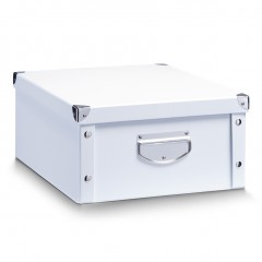 Zeller Aufbewahrungsbox, Pappe, weiß, 40 x 33 x 17 cm