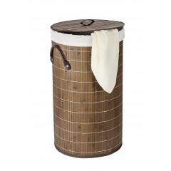 Wenko Wäschetruhe Bamboo Dunkelbraun, Wäschekorb, 55 l